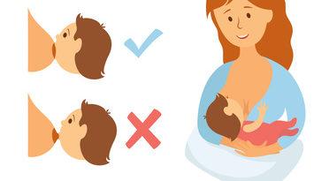Come attaccare correttamente il bimbo al seno